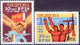 ALBANIA 1975, 30 Years SINGLE UNION, COMPLETE, MNH SET, GOOD QUALITY, *** - Albania