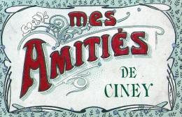 Ciney : Mes Amitiés De...... - Carte Oouleur 1908) - Ciney