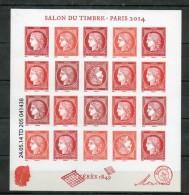 France. Bloc Ceres. Salon Du Timbre Paris. 2014 - Unused Stamps
