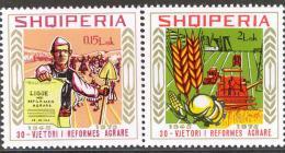 ALBANIA 1975, 30 Years AGRARIAN REFORM, COMPLETE, MNH SET, GOOD QUALITY, *** - Albania