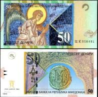 Macedonia 50 Denar 2001 Pick 15 UNC - Macedonia