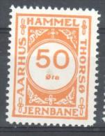Denmark Local Railway Parcel Post, Hammel/Aarhus 50 Oere.MNH..Railways/Train S /Eisenbahnmarken . - Trains