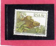 SUD SOUTH AFRICA RSA AFRIQUE 1982 Prehistoric Animals (Karoo Fossils). Bradysaurus ANIMALI PREISTORICI CENT. 8 MNH - Sud Africa (...-1961)