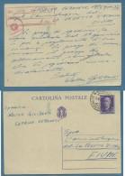 1944  INTERO POSTALE IMPERO 50 C.(C.95) DA CAPRINO VERONESE A FIUME  IN R.S.I. - Postcards