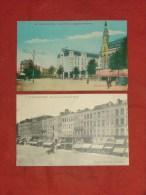 """VALENCIENNES  -  2 Cartes Postales : """"Grand Hôtel Et Magasins Modernes"""" Et """"Un Coin De La Grand Place"""" - Valenciennes"""