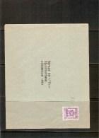België Brief 1/7/49-30/6/50 - Préoblitérés
