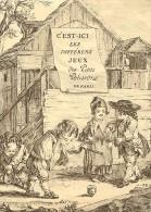 Ref 334- Gravure - Dessin -enfants - Jeu -jeux - La Toupie Publicité Jeux Des Petits Polissons De Paris - - Old Paper