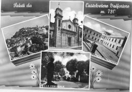 CAMPANIA-BENEVENTO-CASTEL VETERE VALFORTORE SCUOLA VILLA VEDUTE MULTIPLE - Italia