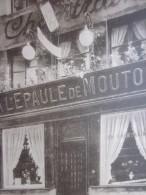 CPA >publicitaire Localisée CHANTRAINE L'EPAULE DE MOUTON Restaurant Près De La Grand-place à Bruxelles Belgique - Restaurants