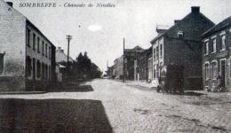 Sombreffe : Chaussée De Nivelles + Pub Au Verso - Sombreffe
