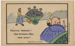 Ligue Action Feminine Pour Le Suffrage Suffragette Dessin Claire Villeneuve Machisme Pellerin Epinal 1927 - Political Parties & Elections