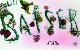 Alle : Un Baiser De ..... - Carte Couleur (écrite) - Autres
