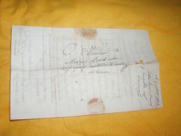 LETTRE ANCIENNE DE 1823. / ST CHAMOND AUX EGAUX ?. CANTON DE LAMASTRE / A ETUDIER MARQUE 88 ST CHAMOND + TAXE. - Marcophilie (Lettres)