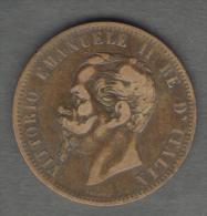 REGNO D'ITALIA - 10 CENTESIMI (1866) VITTORIO EMANUELE II (Z. BIRMINGHAM) - 1861-1946 : Regno