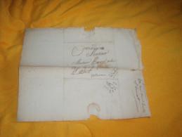 LETTRE ANCIENNE DE 1823. / ST CHAMOND AUX EGAUX ?. CANTON DE LAMASTRE / A ETUDIER MARQUE 88 ST CHAMOND + TAXE. - 1801-1848: Precursors XIX