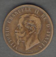 REGNO D'ITALIA - 10 CENTESIMI (1866) VITTORIO EMANUELE II (Z. NAPOLI) - 1861-1946 : Regno