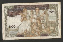 YUGOSLAVIA / JUGOSLAVIA - 1000 DINARA (1941) - WWII - Jugoslavia