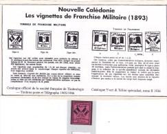 Vignette De  Franchise Militaire Trés Rare  Pas Souvent En Vente   (100) - Nouvelle-Calédonie
