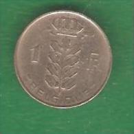 1  Franc   BELGIQUE  1961  (PRIX FIXE)  ( BN9) - 1951-1993: Baudouin I