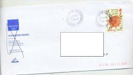 Lettre Cachet Lantosques Sur Cochon Entete Novotel  Hotel Accor - Postmark Collection (Covers)
