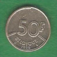 50  Francs   BELGIQUE  1989  (PRIX FIXE)  ( BN24) - 08. 50 Francs