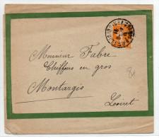 1921 - BANDE JOURNAL De PARIS Pour MONTARGIS - Storia Postale
