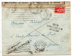 1935 - ENVELOPPE Avec MECA De PARIS -> OUVERTE à SAINT BREVIN LES PINS (LOIRE ATLANTIQUE) & REEXPEDIEE - Brieven En Documenten