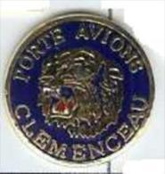 @@ Marine Nationale Tigre Porte Avions CLEMENCEAU Signé GF EGF (1.50 Cm) @@ma76c - Militair & Leger