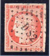 FRANCE : N°5d . CÉRÈS .  1850 . VARIÉTÉ 4 RETOUCHE . LÉGERS DÉFAUTS . SIGNE CALVES  . - Marcophilie (Timbres Détachés)