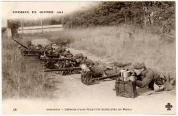 Croquis De Guerre, Infanterie, Défense D'une Propriété Isolée Près De Meaux - Guerre 1914-18