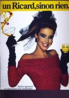 Pub De 1988 - Un RICARD Sinon Rien - Femme - - Advertising