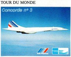 Concorde Autocollant Tour Du Monde 7,5X6 - Marcophilie (Lettres)