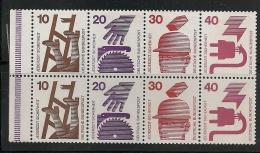 BUCHEN STAMP DEUTSCHE BUNDESPOST : CARNET DE 8 TIMBRES, 4 VALEURS. 1974 - Allemagne