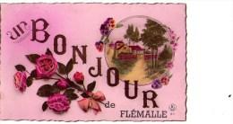 Flémalle : Un Bonjour De..... - Carte Couleur (écrite) - Flémalle