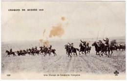 Croquis De Guerre, Une Charge De Cavalerie Française - Guerre 1914-18