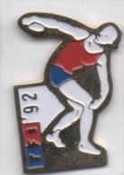 JO Jeux Olympiques Barcelone 92 , Média Télé TV TF1 , Lancer Du Disque - Olympic Games