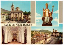 CO256  VIAGRANDE (Catania) - Effigie S. Mauro, Chiesa Madre, Interno, Panorama - Catania