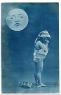 Fillette Relevant Sa Chemise, Pleurant Sous La Lune, Nue, éd. A. Noyer N° 3987 - Portretten