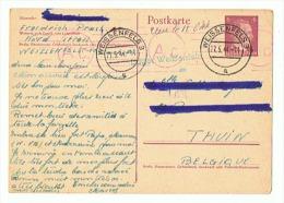 CARTE DE PRISONNIER EN ALLEMAGNE Pour THUIN  (BELGIQUE ) 25 05 1944 - 1939-45