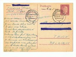 CARTE DE PRISONNIER EN ALLEMAGNE Pour THUIN  (BELGIQUE ) 12 06 1944 - 1939-45