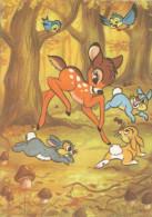 BAMBI, Rabbit, And Birds -  Lapin, Et Les Oiseaux,old Postcard - Disneyland