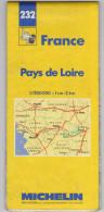 Carte Michelin N° 232 Pays De  Loire - Cartes Routières