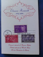 1963 USA Souvenir Folder FDC (Combo) Scott # 1236 Eleanor Roosevelt - First Day Covers (FDCs)