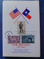 1964 USA Souvenir Folder FDC (Combo) Scott # 1242 Sam Houston - First Day Covers (FDCs)
