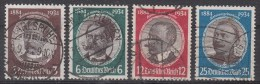 3. REICH  540-543  Kolonialforscher     Gestempelt  Oo   (308br) - Oblitérés