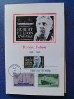 1965 USA Souvenir Folder FDC (Combo) Scott # 1270 Robert Fulton (Ships) - First Day Covers (FDCs)