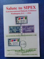 1966 USA Souvenir Folder FDC (Combo) Scott # 1310-1311 SIPEX 6th Intl. Philatelic Exhibition - First Day Covers (FDCs)