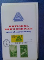 1966 USA Souvenir Folder FDC (Combo) Scott # 1314 National Parks Service 50th - First Day Covers (FDCs)