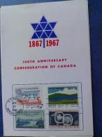 1967 USA Souvenir Folder FDC (Combo) Scott # 1324 Canadian Confederation Centenary - First Day Covers (FDCs)