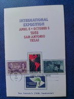 1968 USA Souvenir Folder FDC (Combo) Scott # 1340 Hemisfair '68 San Antonio - First Day Covers (FDCs)